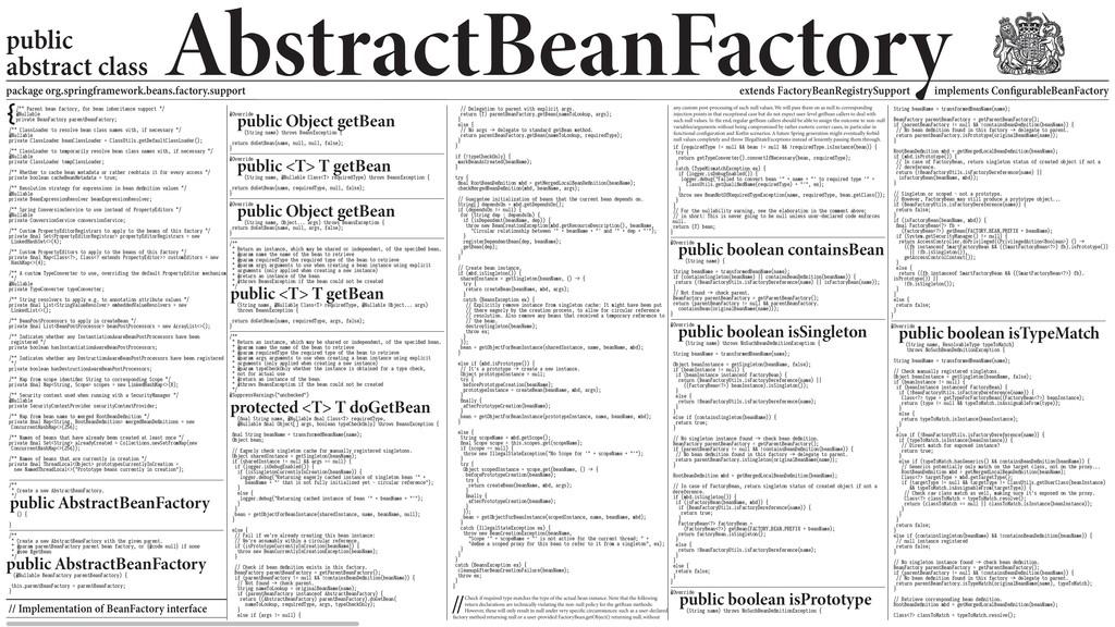 {/** Parent bean factory, for bean inheritance ...