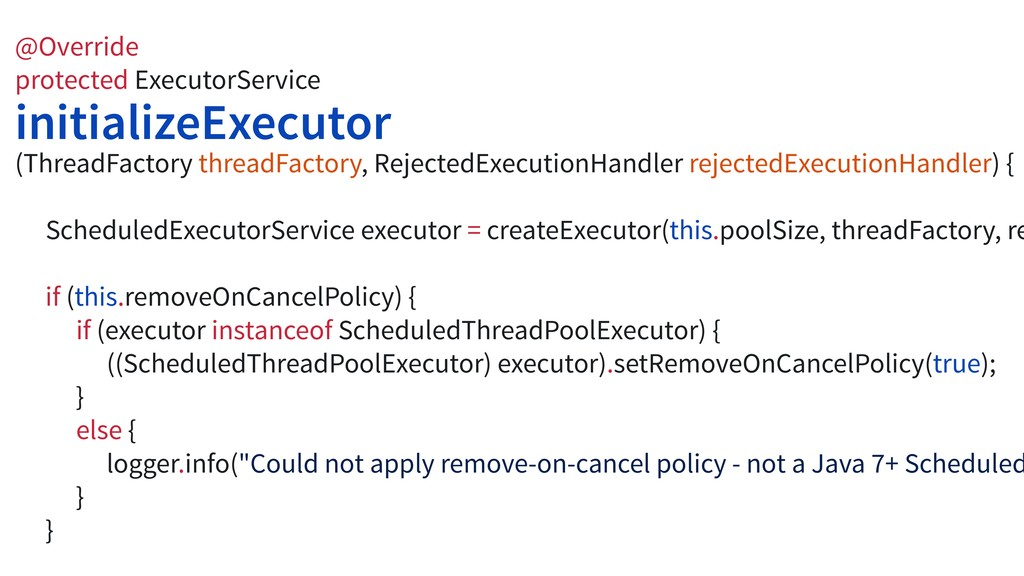 @Override protected ExecutorService initializeE...