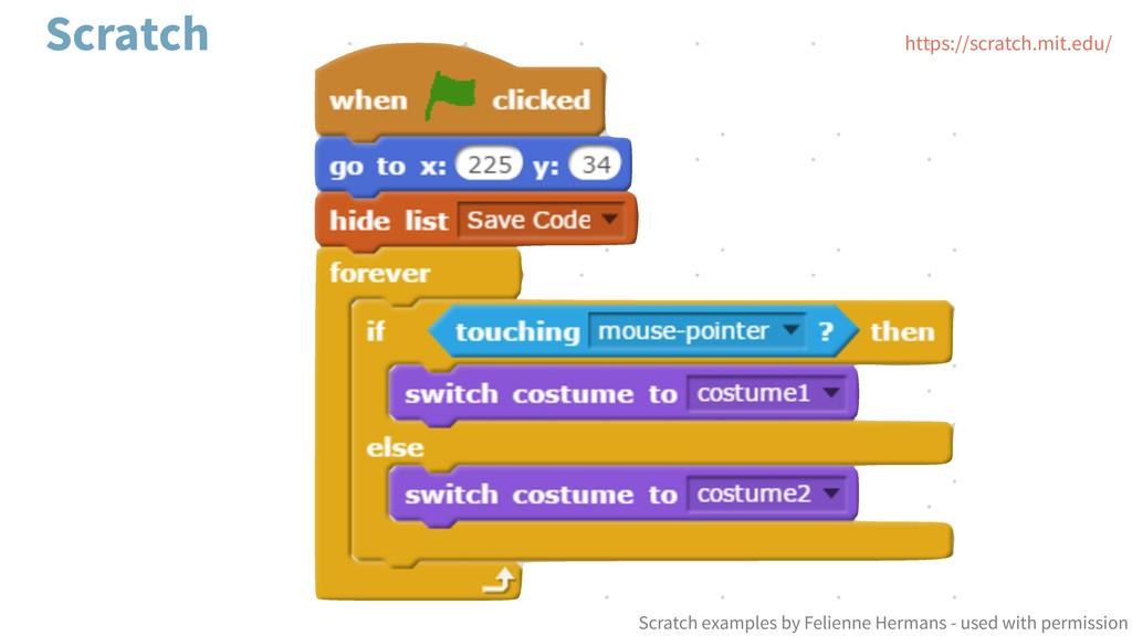 Scratch https://scratch.mit.edu/ Scratch exampl...