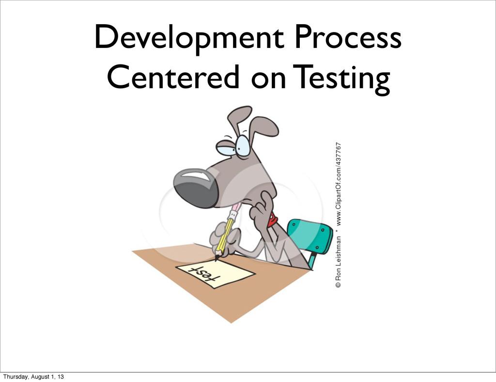 Development Process Centered on Testing Thursda...