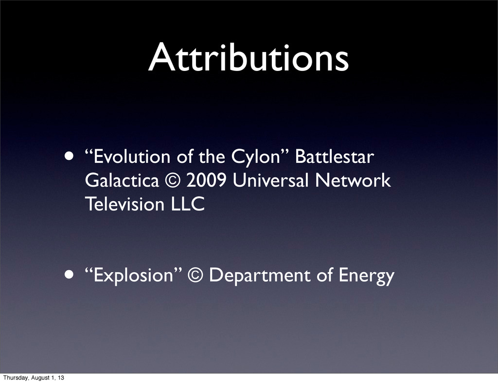 "Attributions • ""Evolution of the Cylon"" Battles..."