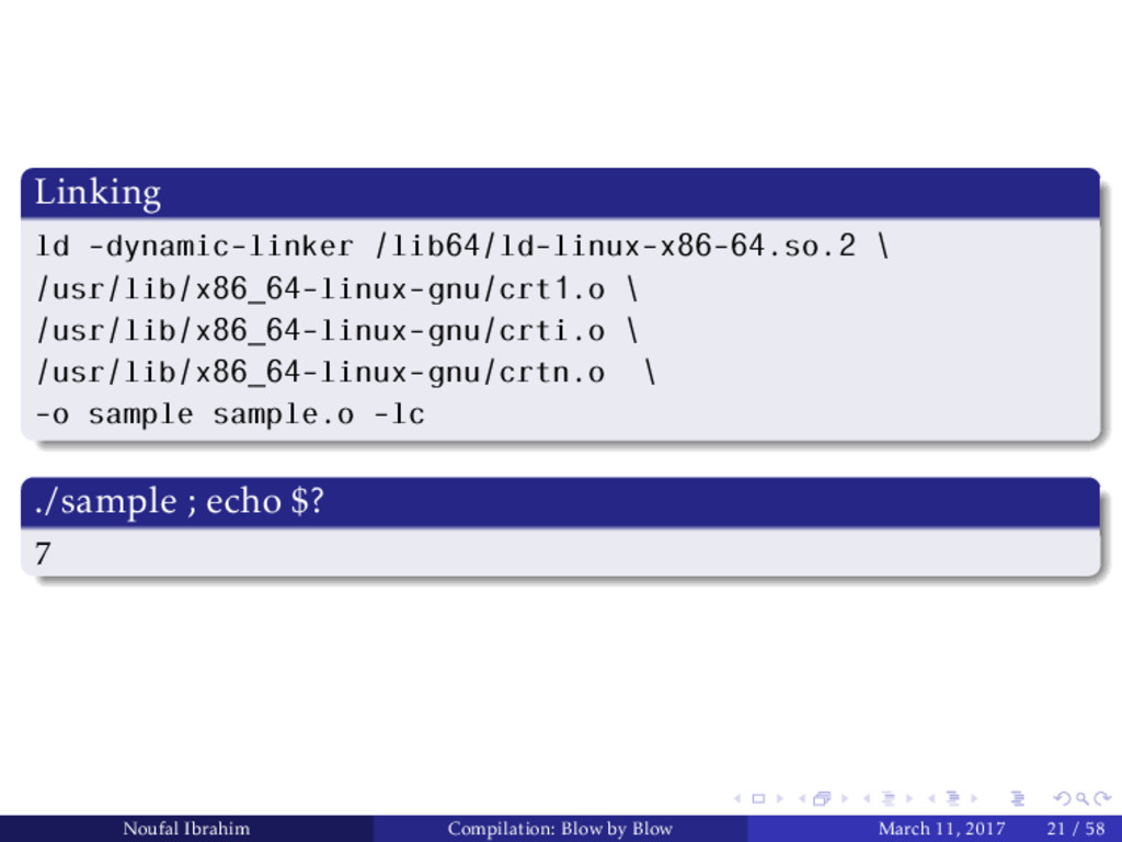 Linking ld -dynamic-linker /lib64/ld-linux-x86-...