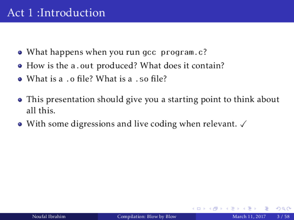 Act 1 :Introduction What happens when you run g...