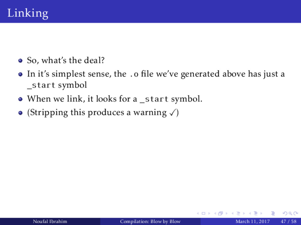 Linking So, what's the deal? In it's simplest s...