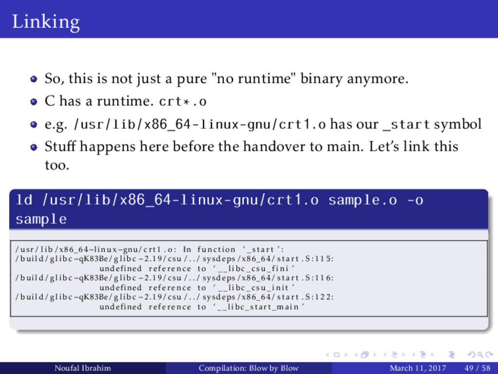 """Linking So, this is not just a pure """"no runtime..."""