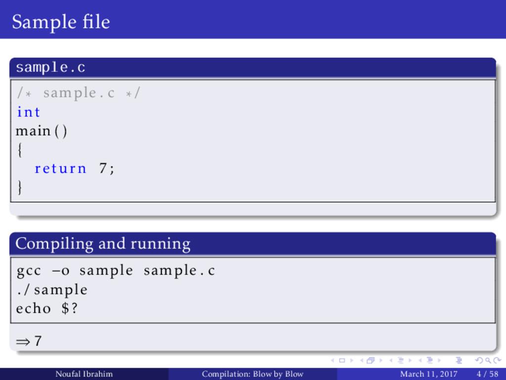 Sample file sample.c / sample . c / int main ( )...