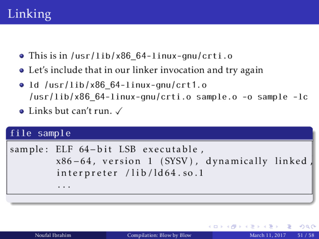 Linking This is in /usr/lib/x86_64-linux-gnu/cr...