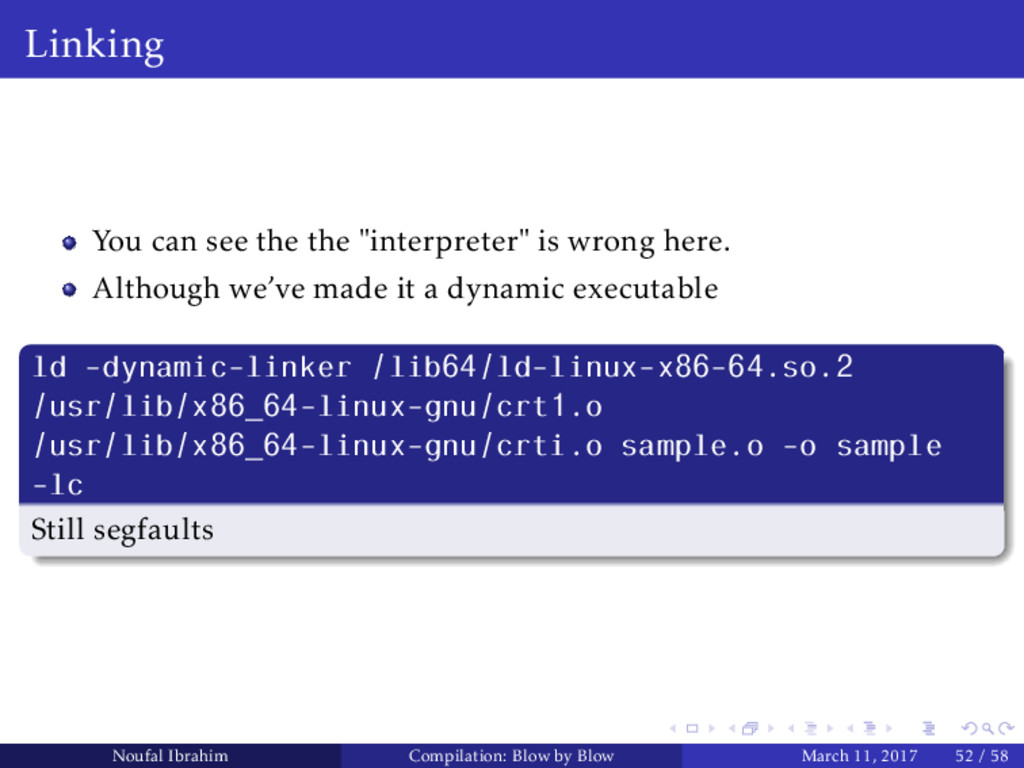 """Linking You can see the the """"interpreter"""" is wr..."""