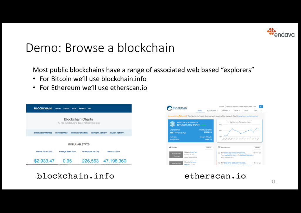 Demo: Browse a blockchain blockchain.info Most ...