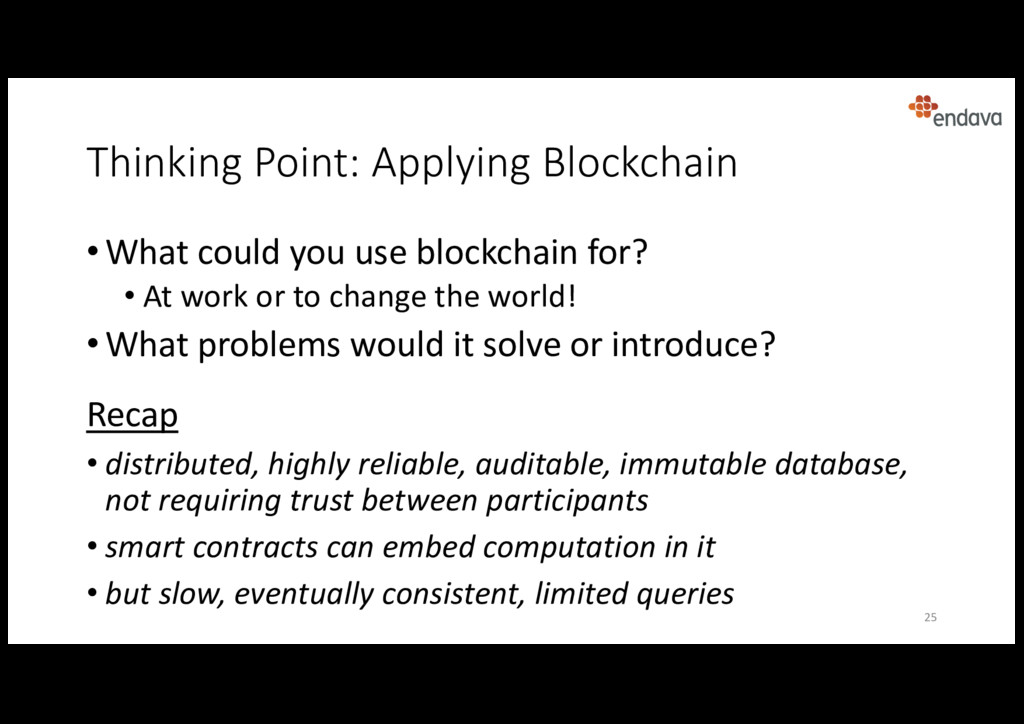 Thinking Point: Applying Blockchain • What coul...