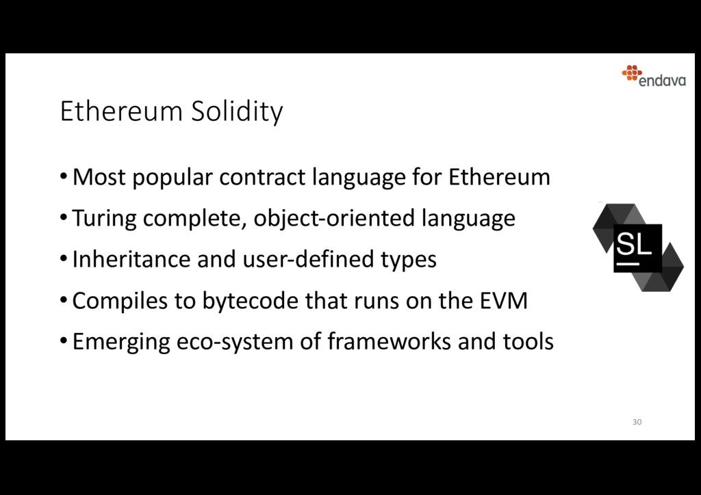 Ethereum Solidity • Most popular contract langu...