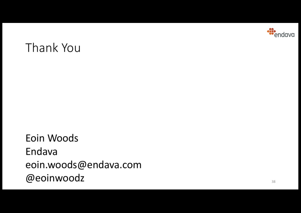 Eoin Woods Endava eoin.woods@endava.com @eoinwo...