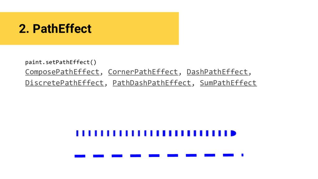 2. PathEffect paint.setPathEffect() ComposePath...