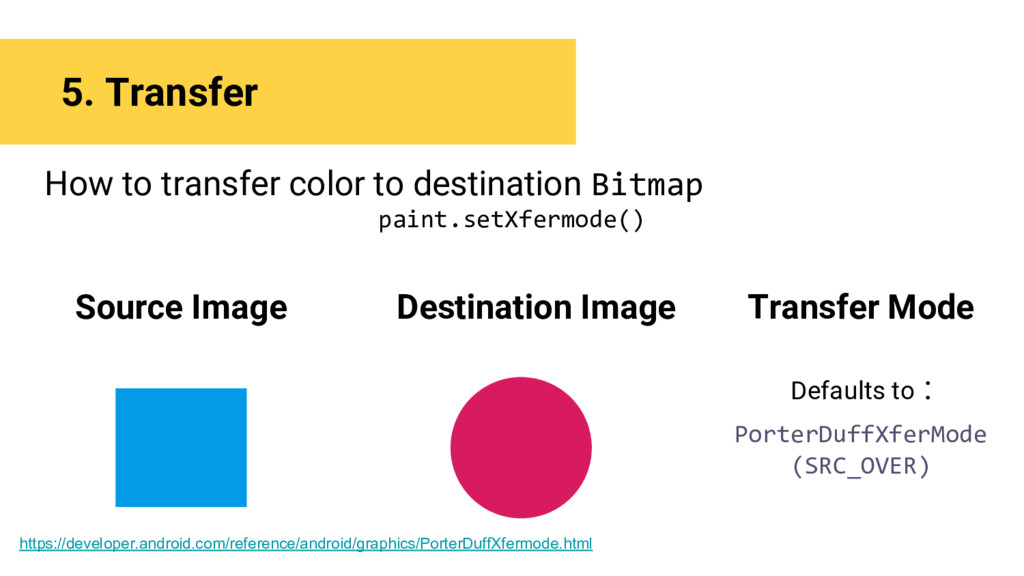 5. Transfer How to transfer color to destinatio...
