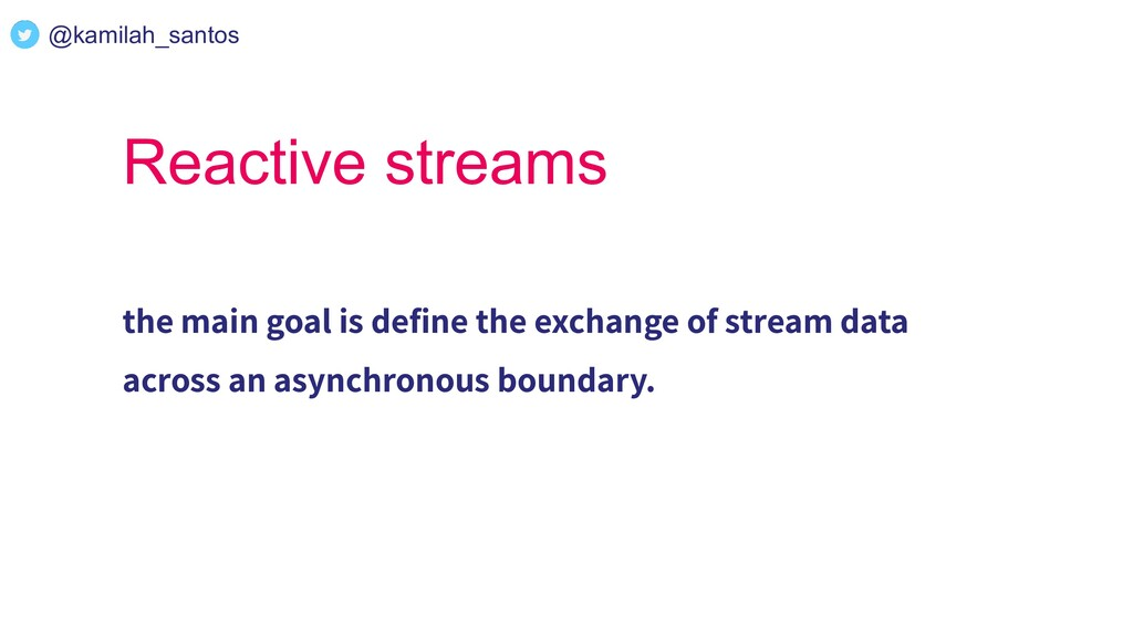 Reactive streams the main goal is define the exc...