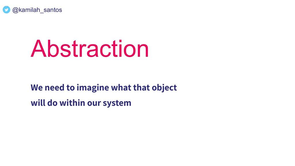 @kamilah_santos Abstraction We need to imagine ...