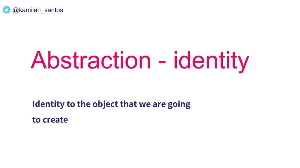 @kamilah_santos Abstraction - identity Identity...