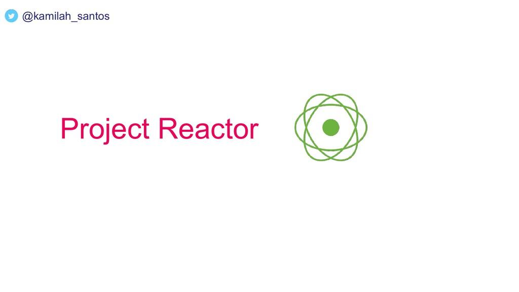 Project Reactor @kamilah_santos