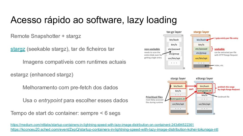 Acesso rápido ao software, lazy loading Remote ...