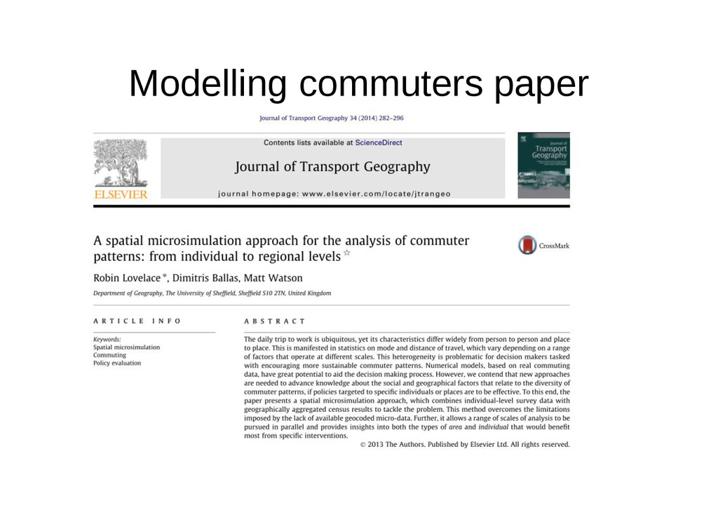 Modelling commuters paper