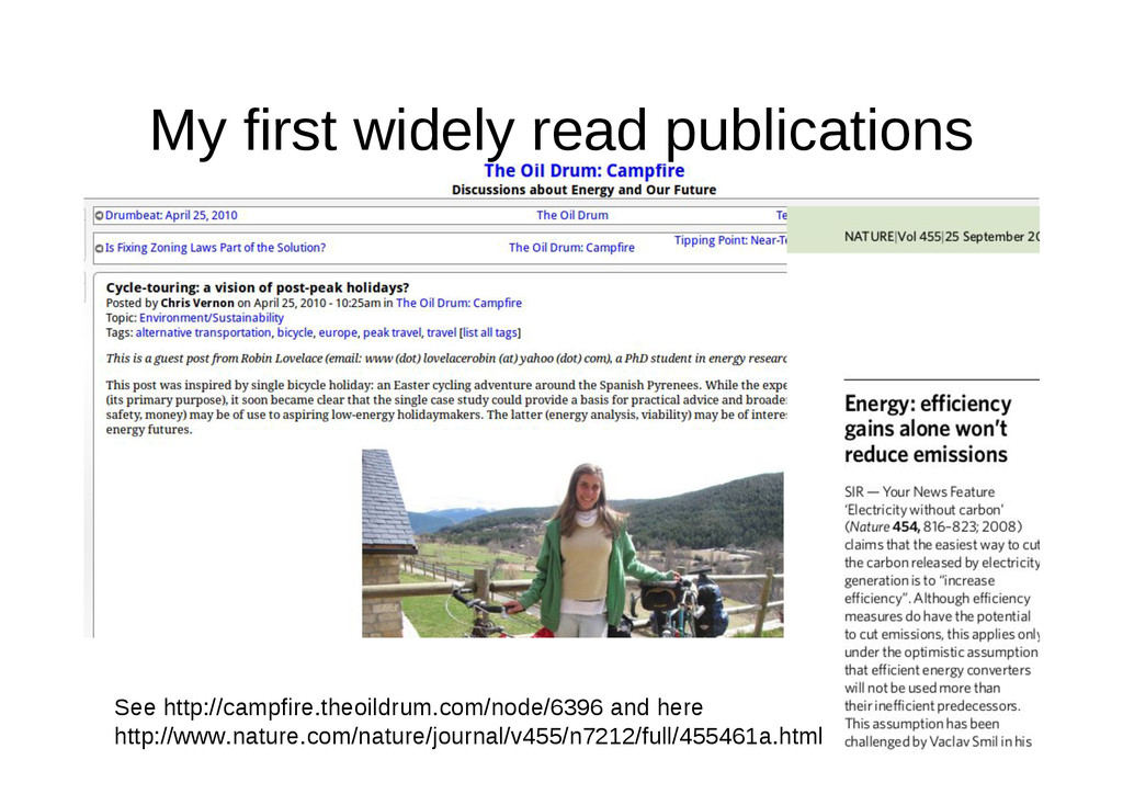 My first widely read publications See http://ca...