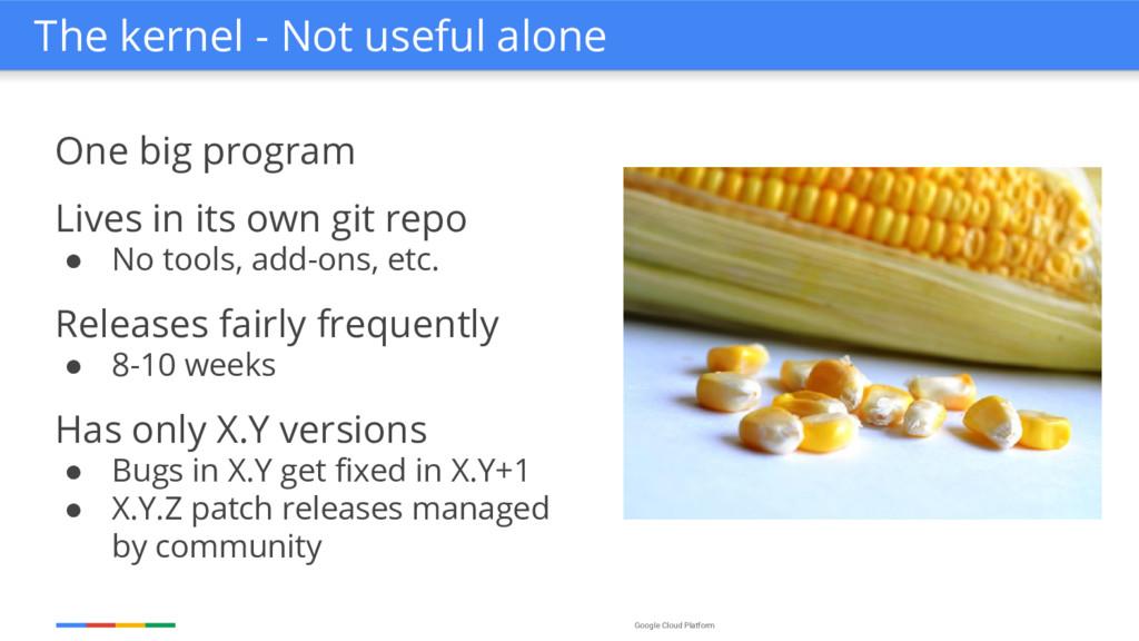 Google Cloud Platform One big program Lives in ...