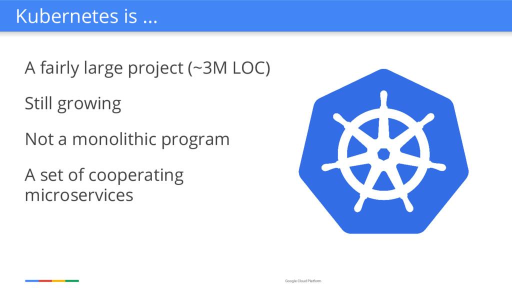 Google Cloud Platform A fairly large project (~...