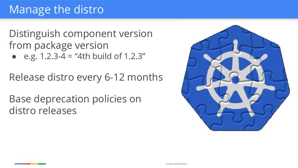 Google Cloud Platform Distinguish component ver...