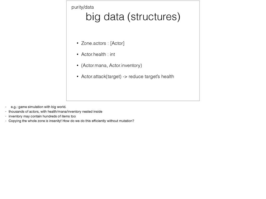 big data (structures) • Zone.actors : [Actor] •...