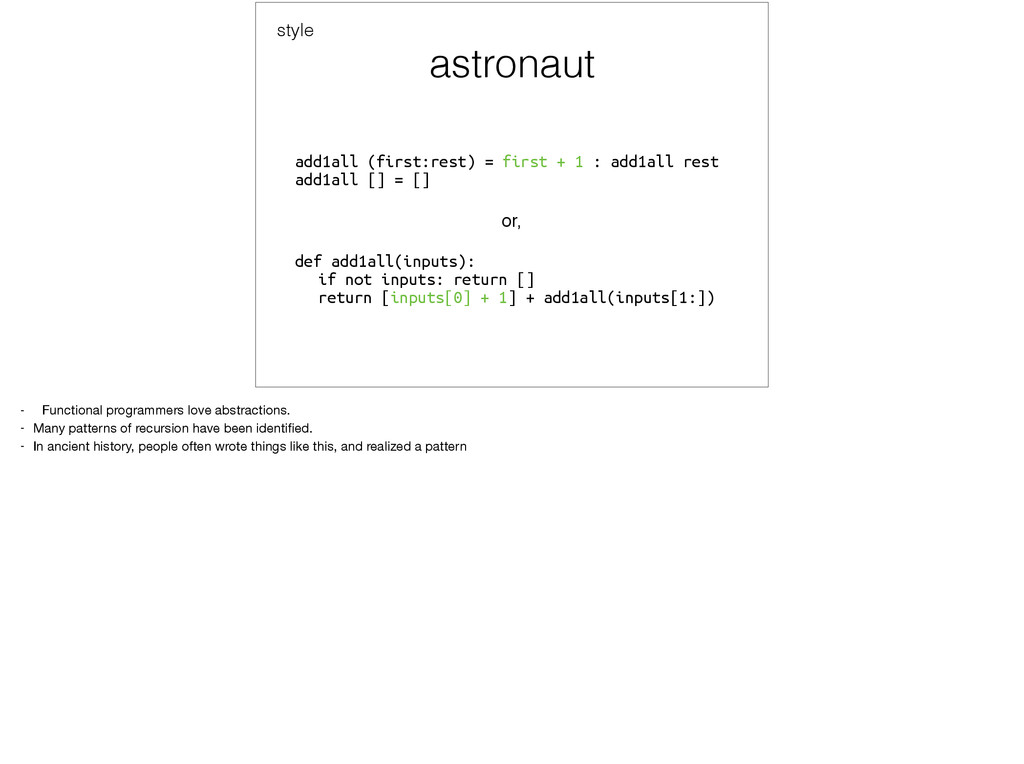 astronaut add1all (first:rest) = first + 1 : ad...