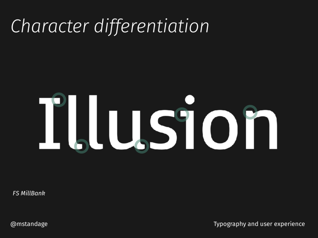 Character differentiation @mstandage FS MillBan...