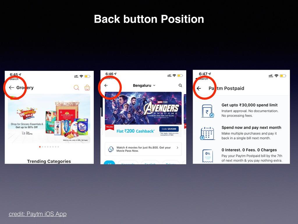 credit: Paytm iOS App Back button Position