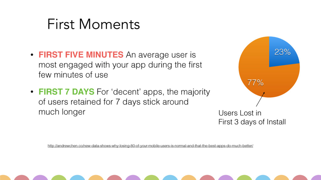 First Moments • FIRST FIVE MINUTES An average u...