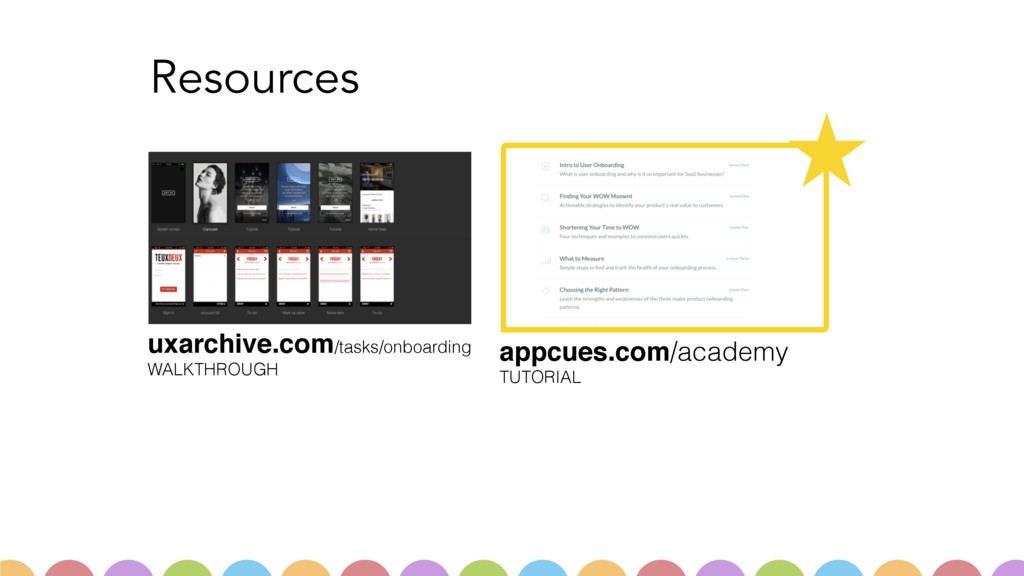 Resources appcues.com/academy TUTORIAL uxarchi...