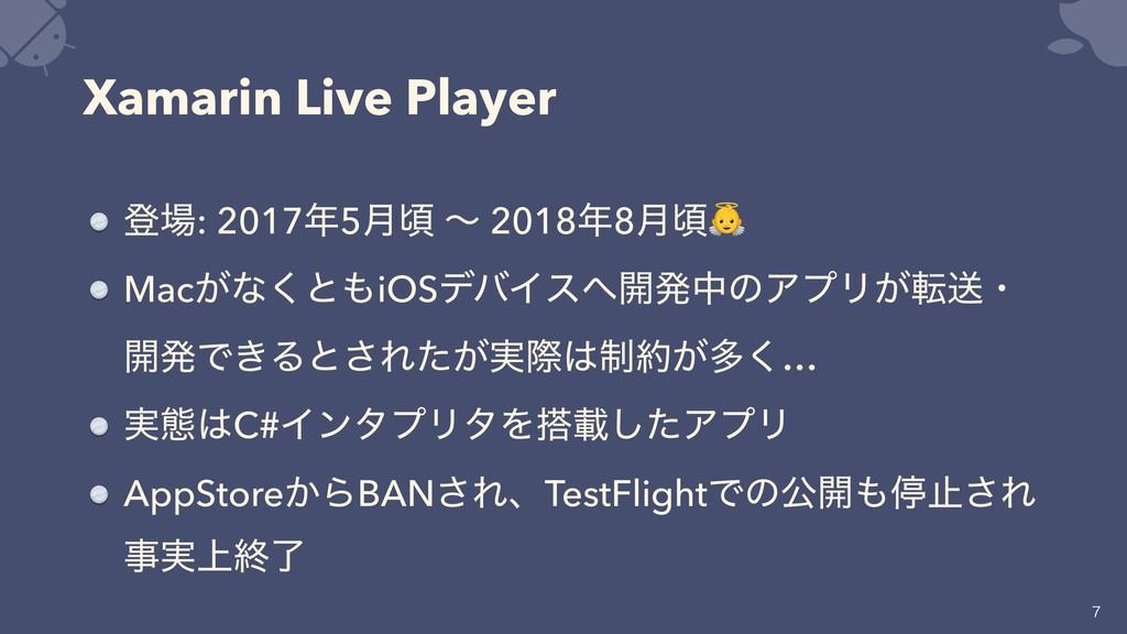 Xamarin Live Player ొ: 20175݄ࠒ ʙ 20188݄ࠒ Mac...