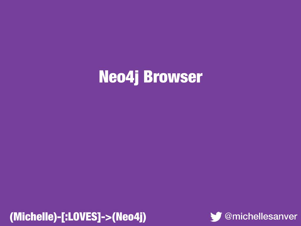 Neo4j Browser @michellesanver (Michelle)-[:LOVE...