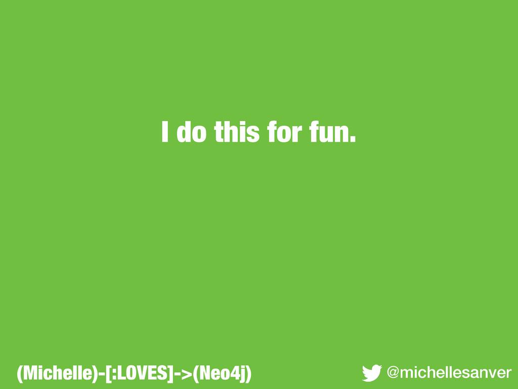 I do this for fun. @michellesanver (Michelle)-[...