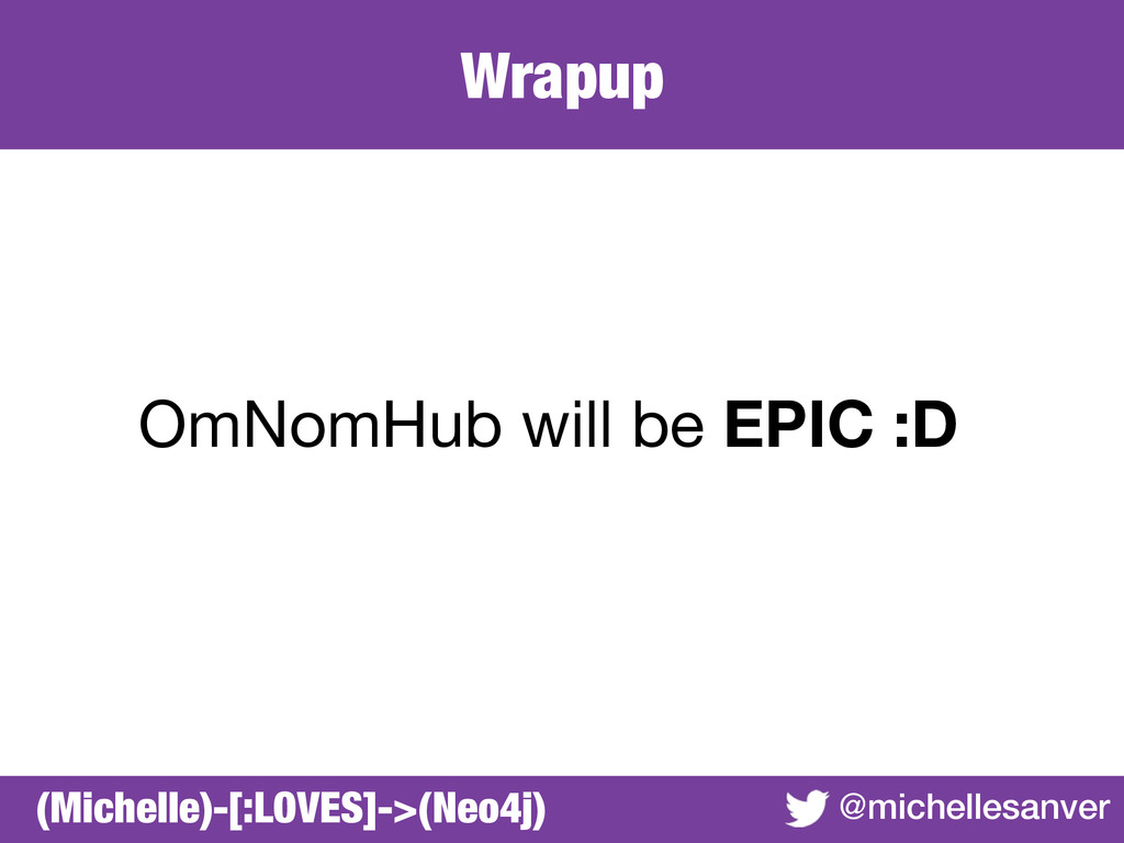 Wrapup @michellesanver OmNomHub will be EPIC :D...