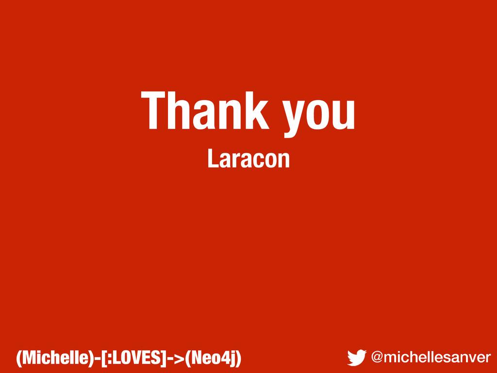 Thank you Laracon @michellesanver (Michelle)-[:...