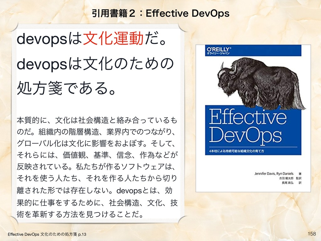 !158 Ҿ༻ॻ੶̎ɿ&⒎FDUJWF%FW0QT Effective DevOps จԽͷͨ...