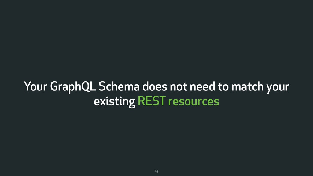 Your GraphQL Schema does not need to match your...