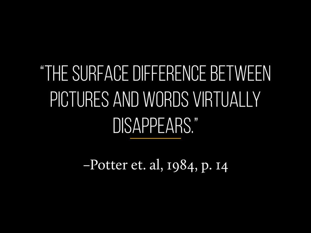"""–Potter et. al, 1984, p. 14 """"the surface differ..."""