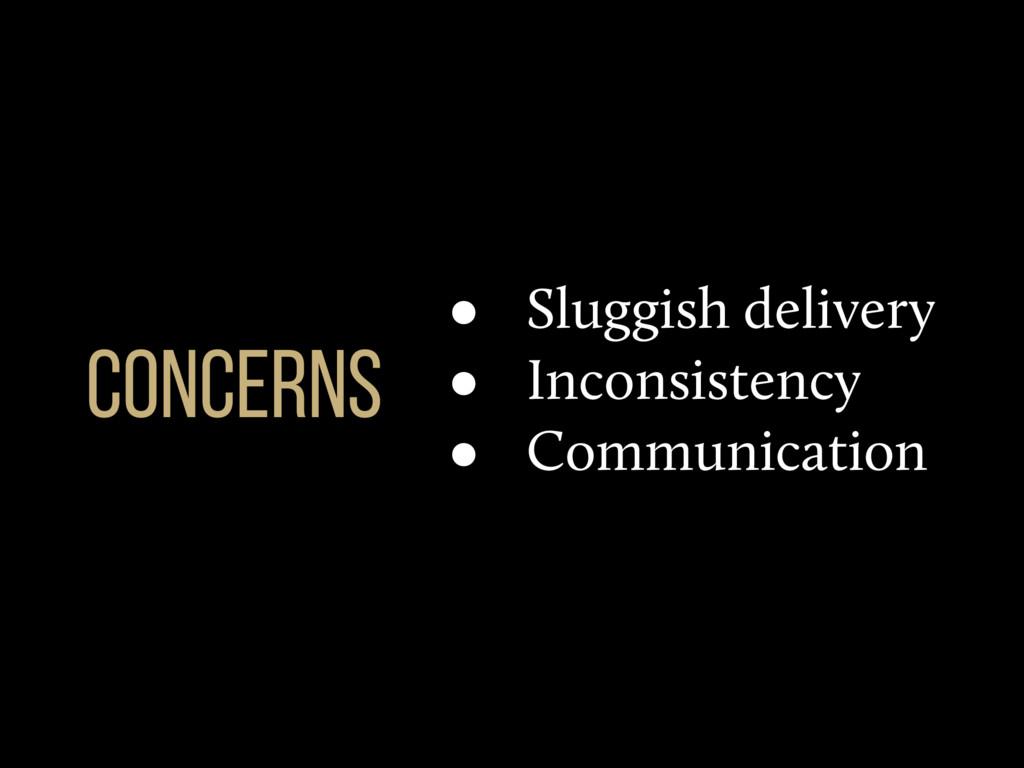 • Sluggish delivery • Inconsistency • Communica...