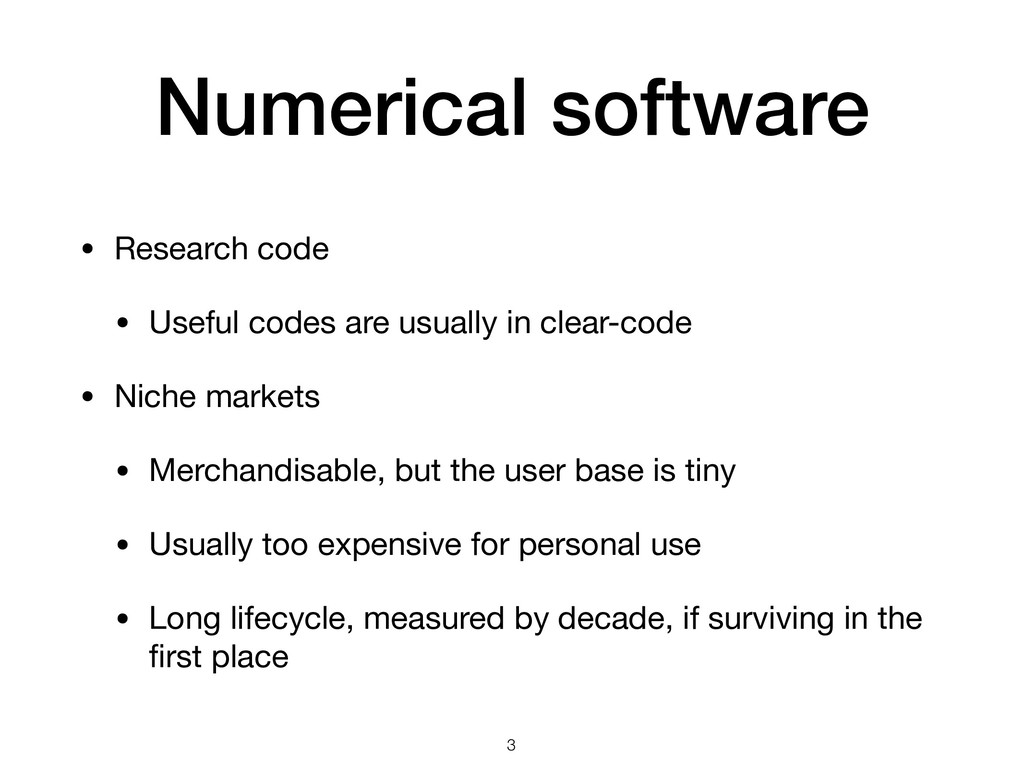 Numerical software • Research code  • Useful co...