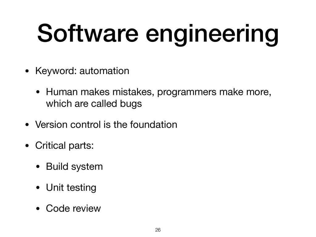 Software engineering • Keyword: automation  • H...