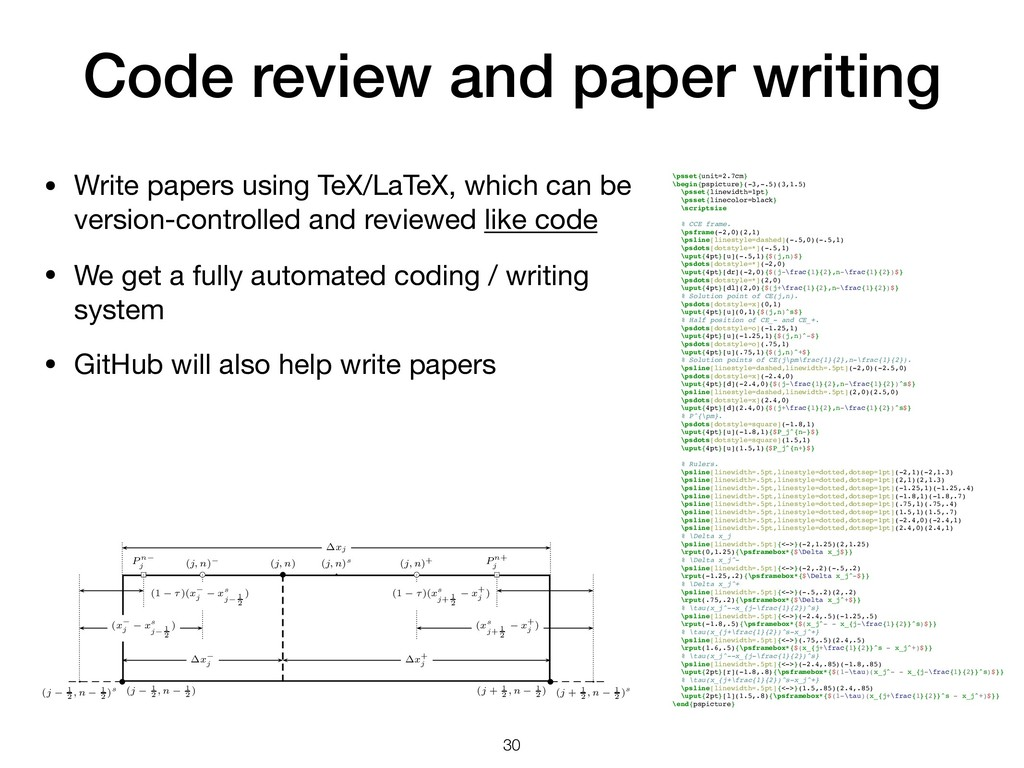 Code review and paper writing • Write papers us...