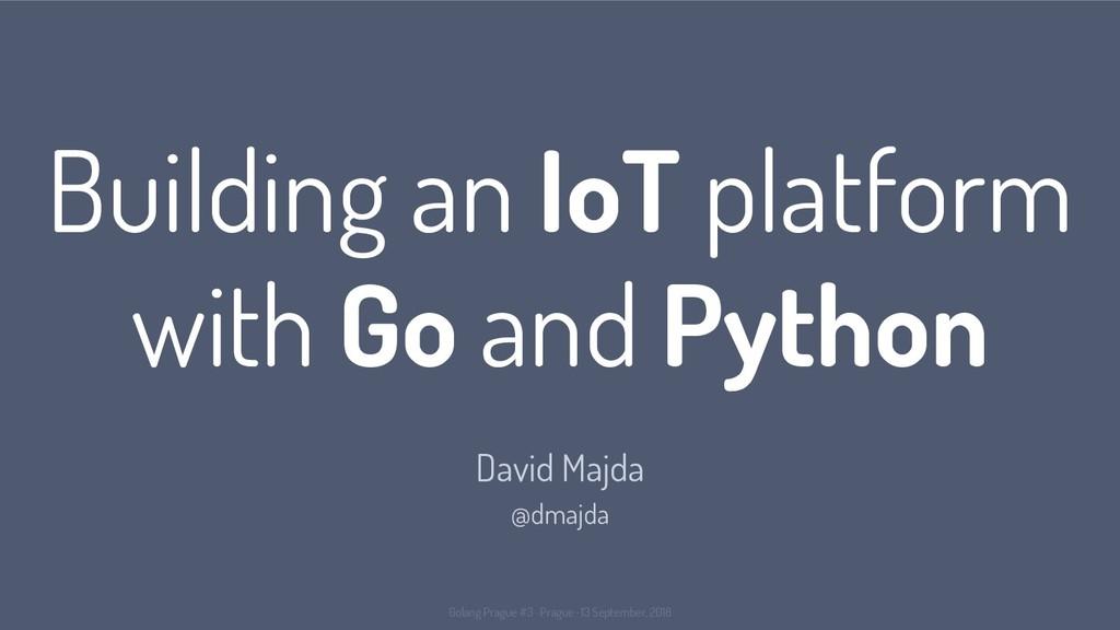 Building an IoT platform with Go and Python Dav...