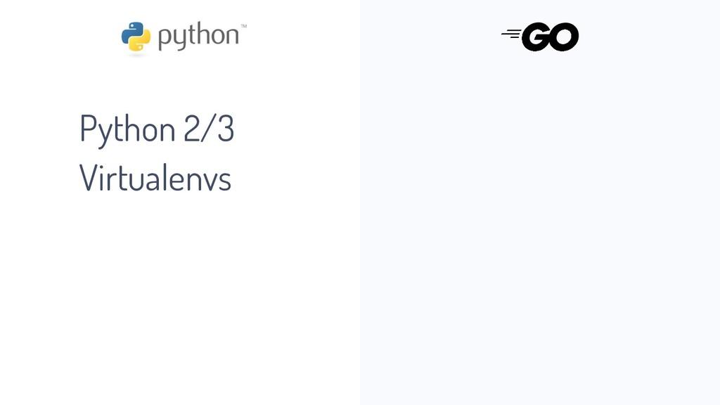 Python 2/3 Virtualenvs