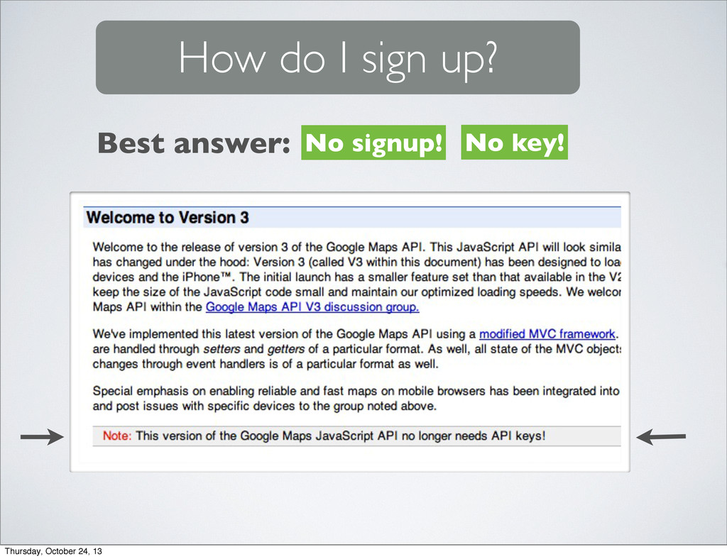 How do I sign up? No signup! No key! Best answe...