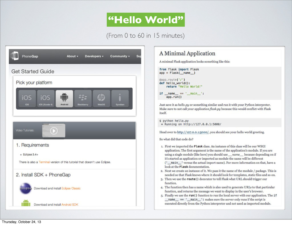 """Hello World"" (From 0 to 60 in 15 minutes) Thur..."